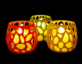 Tea Light Holder Voronoi 3D printable model