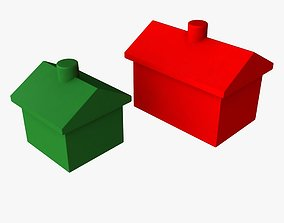 Monopoly Houses and Hotels 3D