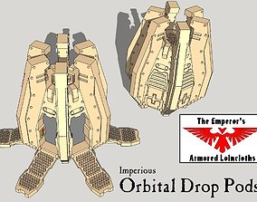 6mm and 8mm Orbital Drop Pods 3D printable model