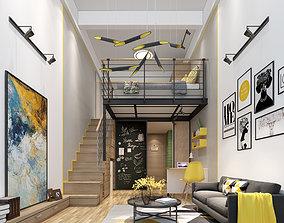 3D Modern apartment house
