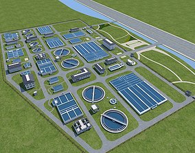 Sewage Water Treatment Station 3D