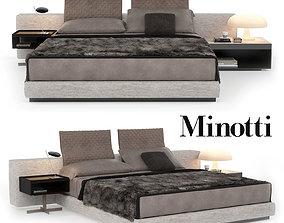 3D model Minotti Bed Yang