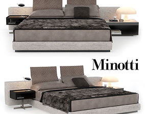 3D model Minotti Bed Yang