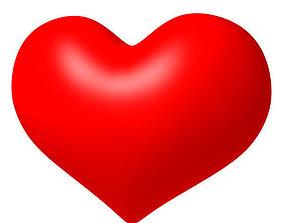 Valentine Heart 3D asset