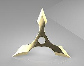 3D print model Ninja Star 3 blades Double sided 2