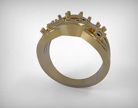3D print model Jewelry Golden Ring Braided Design