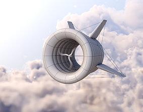 Airborne Wind Turbine 3D