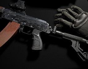 3D model Tactical grip AK