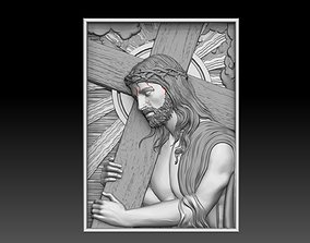 Jesus Carrying The Cross cnc model bas relief carrying