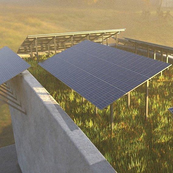 Solarmodule Version [4] 23m (Blender 2.93 Cycles Render 3)