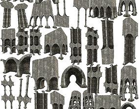 3D asset 50Models Gatehouse 01