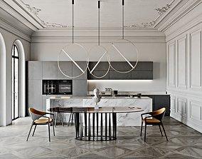 corona 3D model Neoclassic Kitchen