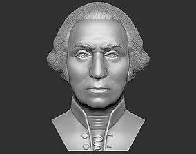George Washington bust 3D printing ready stl obj formats