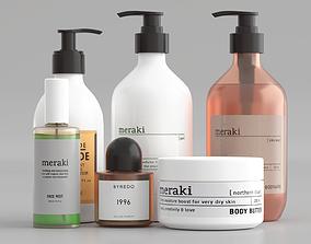 3D asset Meraki Cosmetics Set