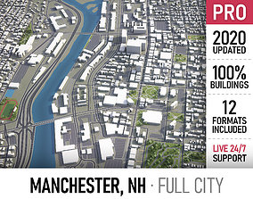 Manchester - New Hampshire - city and 3D model