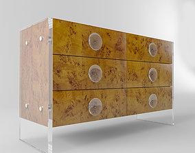Jonathan Adler BOND SIX-DRAWER CREDENZA beautiful 3D