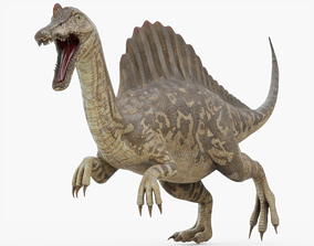 3D asset realtime Spinosaurus Rigged