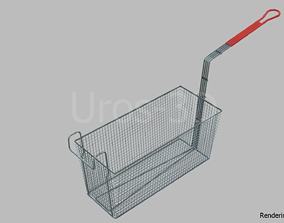 Deep Fryer Basket 3D asset low-poly