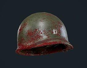 WW2 American Soldier Military Helmet Game 3D asset 1