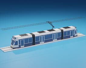 lowpoly Cartoon Tram 3D model