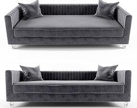 Trevon Fabric Sofa Chair with Acrylic legs 3D
