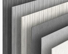 Fiber cement 3D model