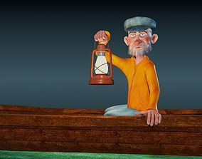 Fisherman - Rigged cartoon character 3D asset
