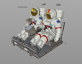 APOLLO Lunar Rover Crew 3D print model
