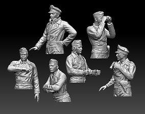3D printable model figurines German tank crew