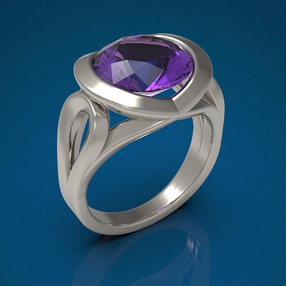 Big gemstone ring