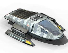 Space-transportation warehouse 01 3D model