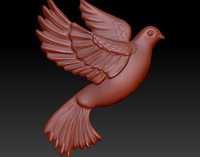 3D printable model flying pigeon