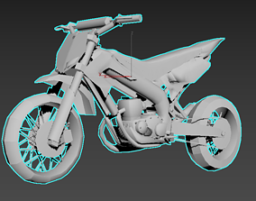 3D printable model moto 50cc competition bike 50cc