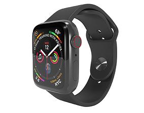 Apple Watch 4 Series Space Gray 3D model