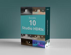 Bundle 10 Studio Hdris 3D model