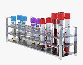 Medical Test Tubes 3D