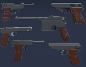 Automatic Pistols of the Word War 3D