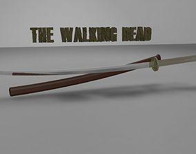 3D printable model The Walking Dead Katana Michonne