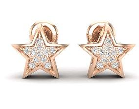 3D print model Star earrings for woman