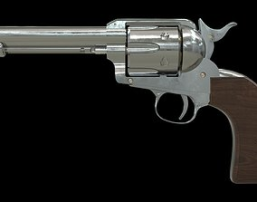 Colt Peacemaker with Bullets 3D