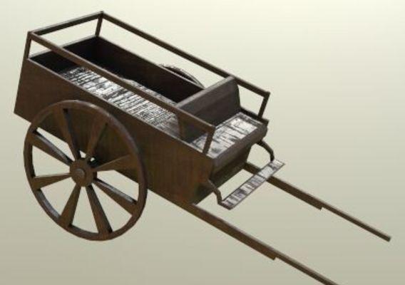 Carriage Horse Wagon PBR