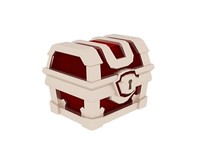3D model low poly magical chest