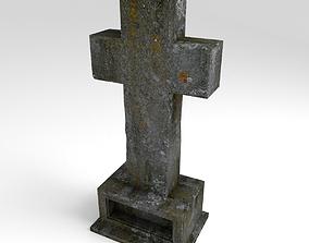 Cemetery Cross 3D asset