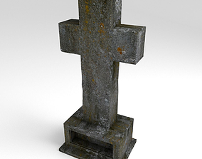 Cemetery Cross 3D asset