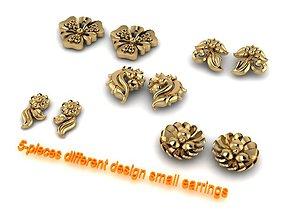 5-pieces earrings 3D printable model