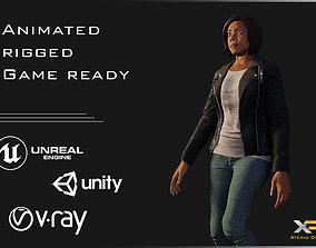Female Character - Amelia 3D asset