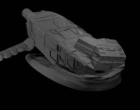 miniatures Crashed Cargo Ship 3D print model