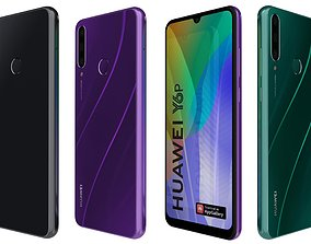 3D Huawei Y6P All Colors