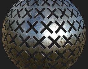 Cutout metal plate 01 3D