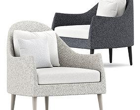 Katachi Low Back Lounge Chair by Janus et cie 3D